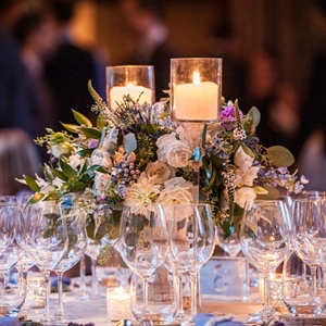Blue and Purple Floral Centerpieces