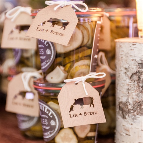 Homemade Pickle Favors