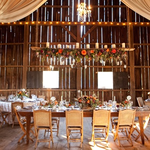 The barn allowed for the right balance of elegant