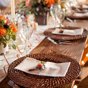 Wicker Place Settings