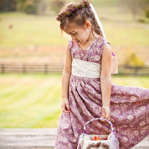 Homemade Flower Girl Dress