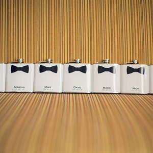 Groomsmen Bow Tie Flasks
