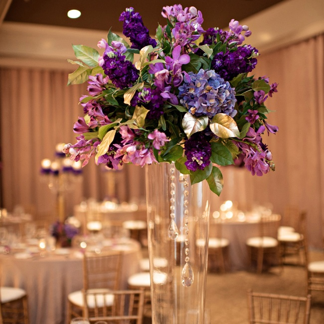 Tall glass vases, complete