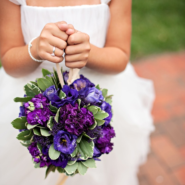 The flower girl carried a