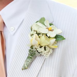 Gardenia and Wax Flower Boutonniere