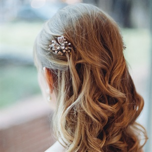 Cascading Waves Bridal Hairstyle