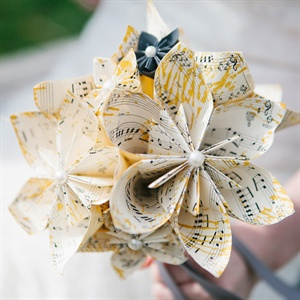 Sheet Music Paper Flower Bouquet