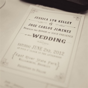 The couple designed their invites themselves and printed them through Zazzle.com.