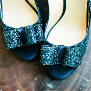 Kate Spade Glitter Bridal Shoes