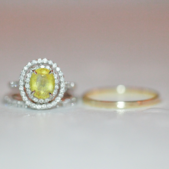 Joe had a yellow sapphire imported