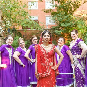 Purple Bridesmaid Saris