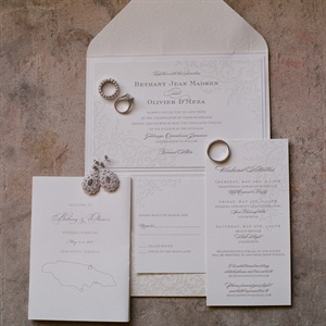 Natural Colored, Letterpressed Invitations