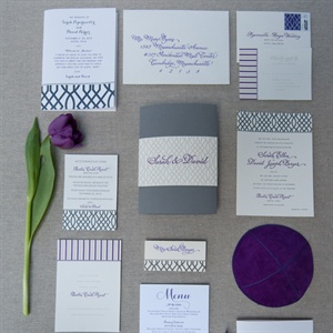 Purple Trellis Invitation Suite Design