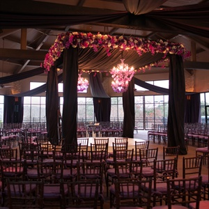 Lush Purple and White Huppah Decor
