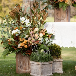 Subtle Organic Ceremony Flowers