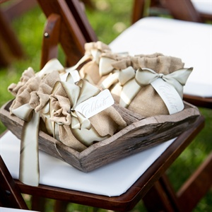 Trail Mix Wrapped in Burlap