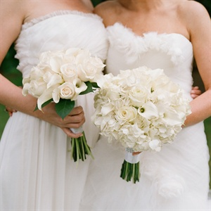 All White Bouquets