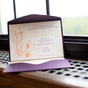 Purple and Orange Invitations
