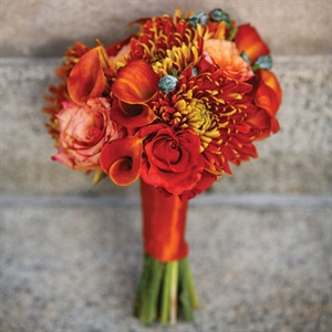 Chrysanthemum Bridesmaid Bouquet