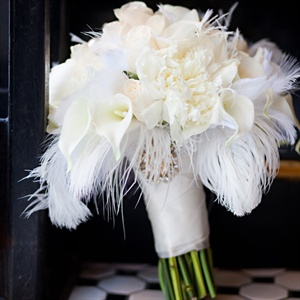White Feather Bouquet