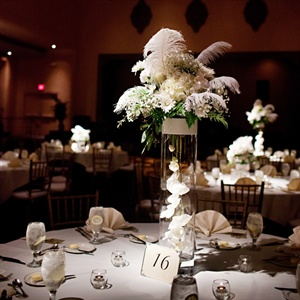 White Feather Centerpieces