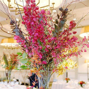 Tall Centerpiece with Red Branches