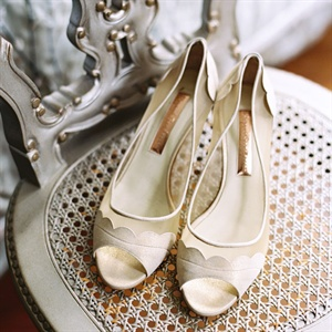 Gold Rupert Sanderson Bridal Shoes