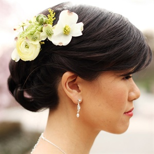 Bridal Updo with Flowers