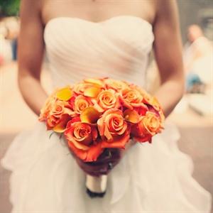 Orange and Gold Bridal Bouquet