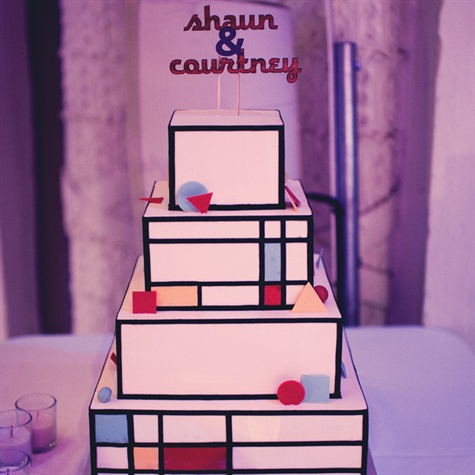 Mondrian-Inspired Wedding Cake