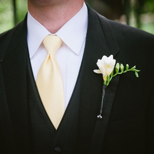 White Freesia Boutonniere