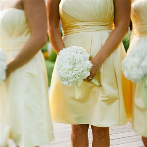 Short Yellow Bridesmaid Dresses