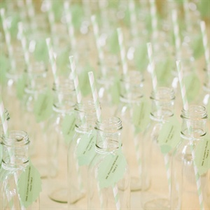 Creative Glass Bottle Escort Cards