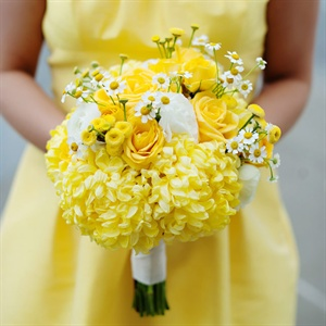 Yellow Bridesmaids Bouquets