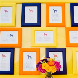 Dog Silhouette Table Assignments