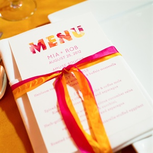 Ribbon-Tied Menus