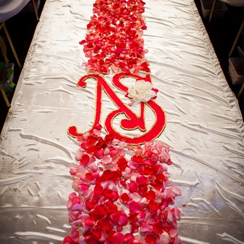 Rose Petal Aisle Runner