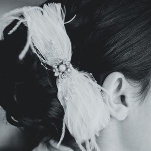 Elegant Feather Hair Accessory