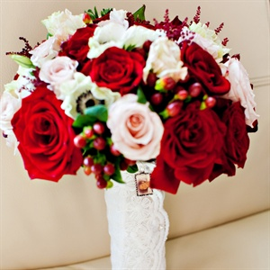 Vibrant Rose Bridal Bouquet