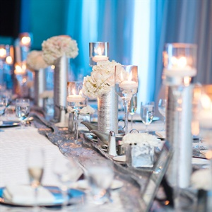 Silver Wedding Reception Decor