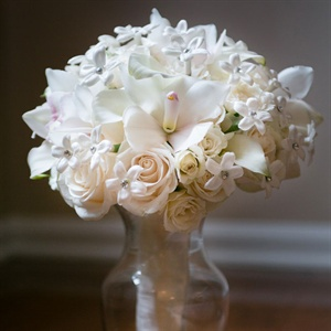 White Winter Bridal Bouquet