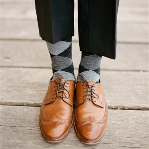 Stylish Argyle Socks and Wingtip Oxfords
