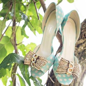 Polka-Dot Peep-Toe Shoes