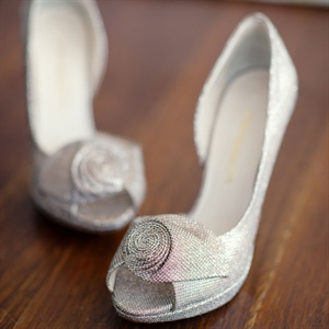 Silver Enzo Angiolini Bridal Shoes
