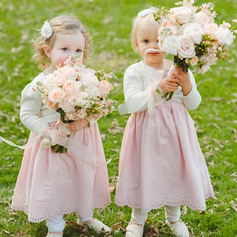 Pale Pink Flower Girl Dresses