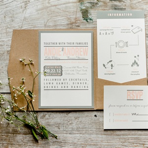 Andie and Andrew's stationery was simple and modern with a hint of