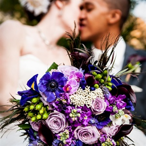 Vivid Purple Bridal Bouquet