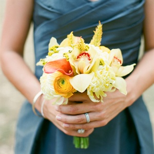 Small Yellow and Orange Bridesmaid Bouquet