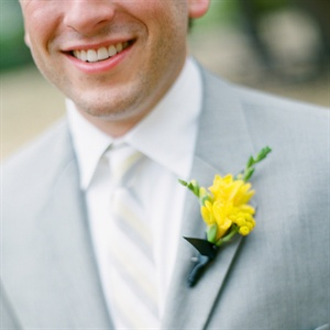Bright Yellow Freesia Boutonniere
