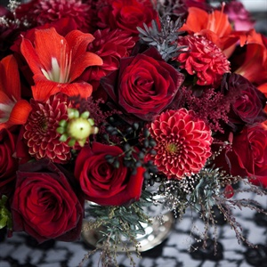 Deep Red Centerpieces